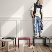 Tabouret Little Architect - Bordeaux