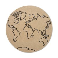 Tapis rond en Jute - World