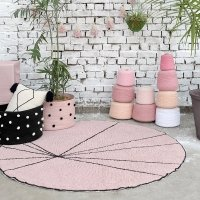 Tapis Trace - Rose vintage