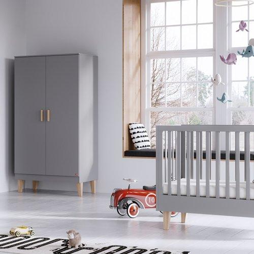Lit bébé évolutif 70 x 140 Lounge - Gris clair Vox pour chambre ...
