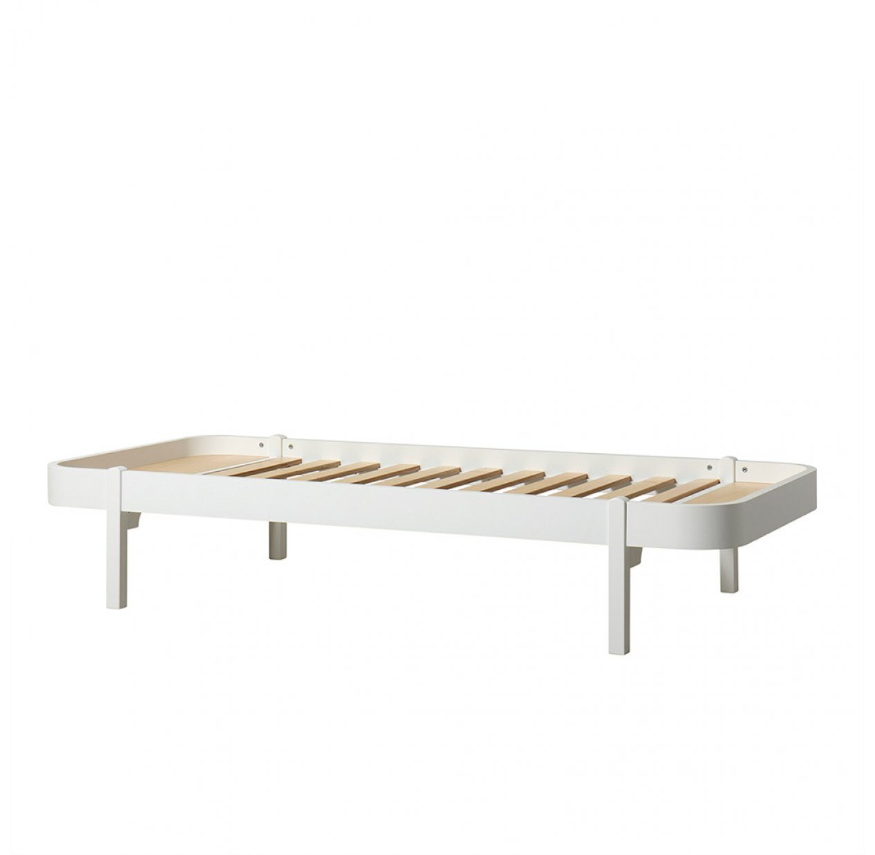Lit enfant Wood Lounger 90x200 - Blanc