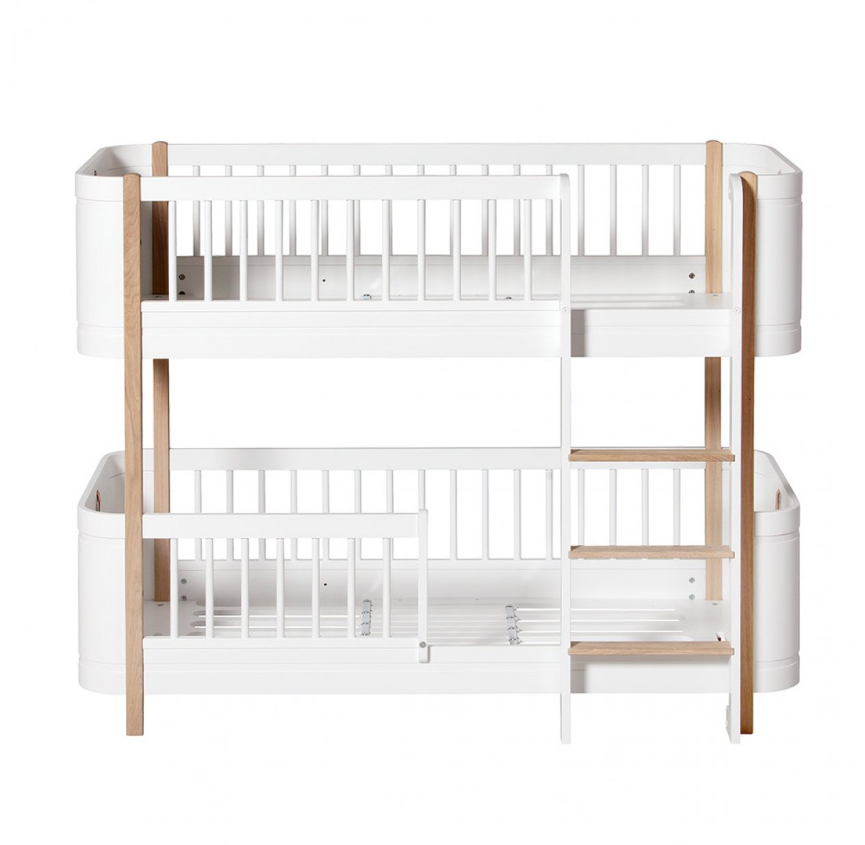 Lit superposé junior Wood Mini+ - Blanc/Chêne