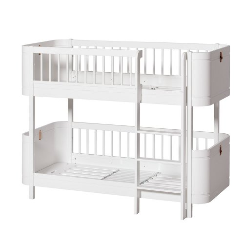 Lit superposé junior Wood Mini+ - Blanc