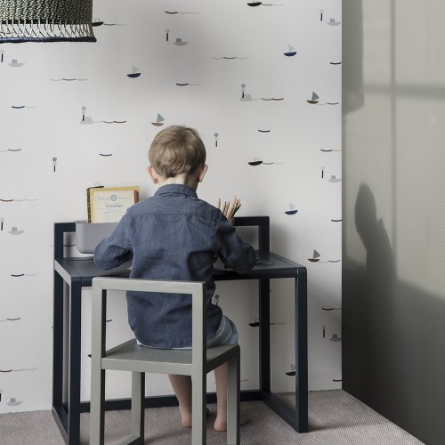 Grand rangement de bureau Little Architect - Gris
