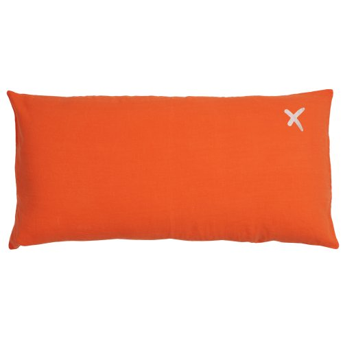 Coussin XL rectangulaire Lovers terracotta - Orange