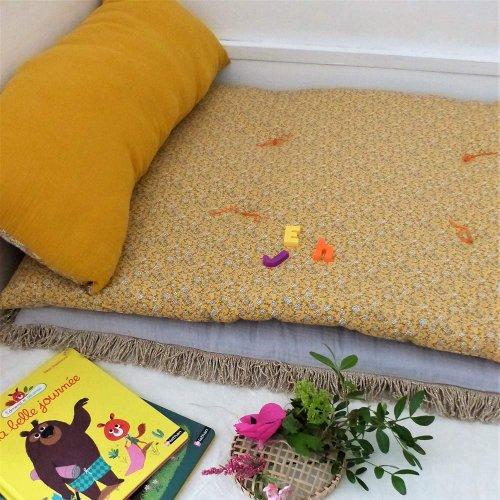 matelas de sol hippie jaune scala pour chambre enfant. Black Bedroom Furniture Sets. Home Design Ideas