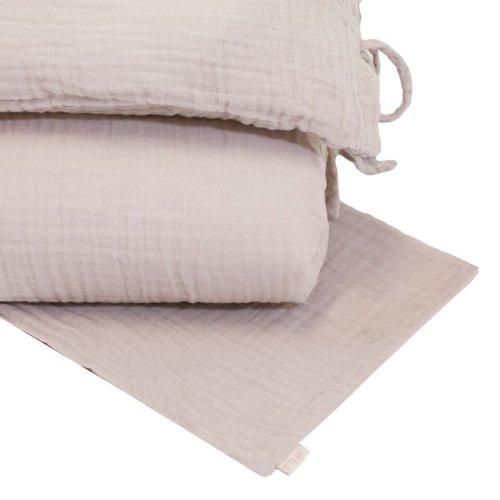 parure de lit en gaze de coton rose poudr - Parure De Lit Rose Poudre