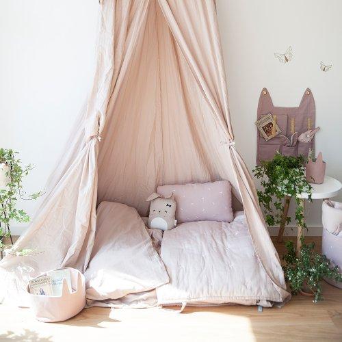 Pochette de rangement murale Lapin - Vieux rose Fabelab pour chambre enfant - Les Enfants du Design