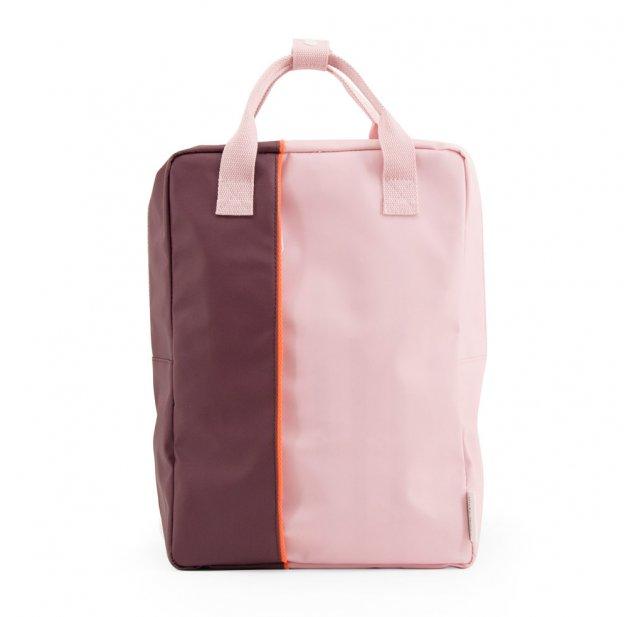 Grand sac à dos Verticale - Aubergine/Rose