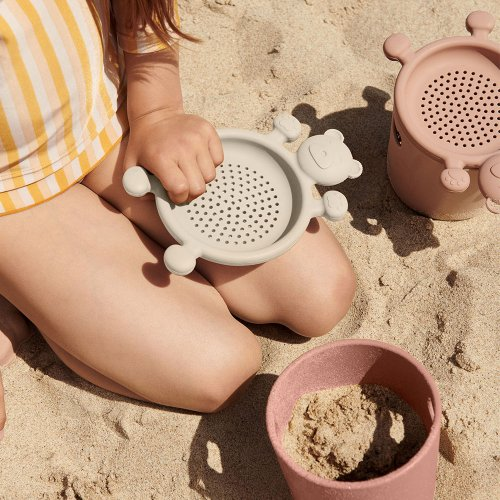 Set de plage Bastian Seau et Tamis - Rose mix