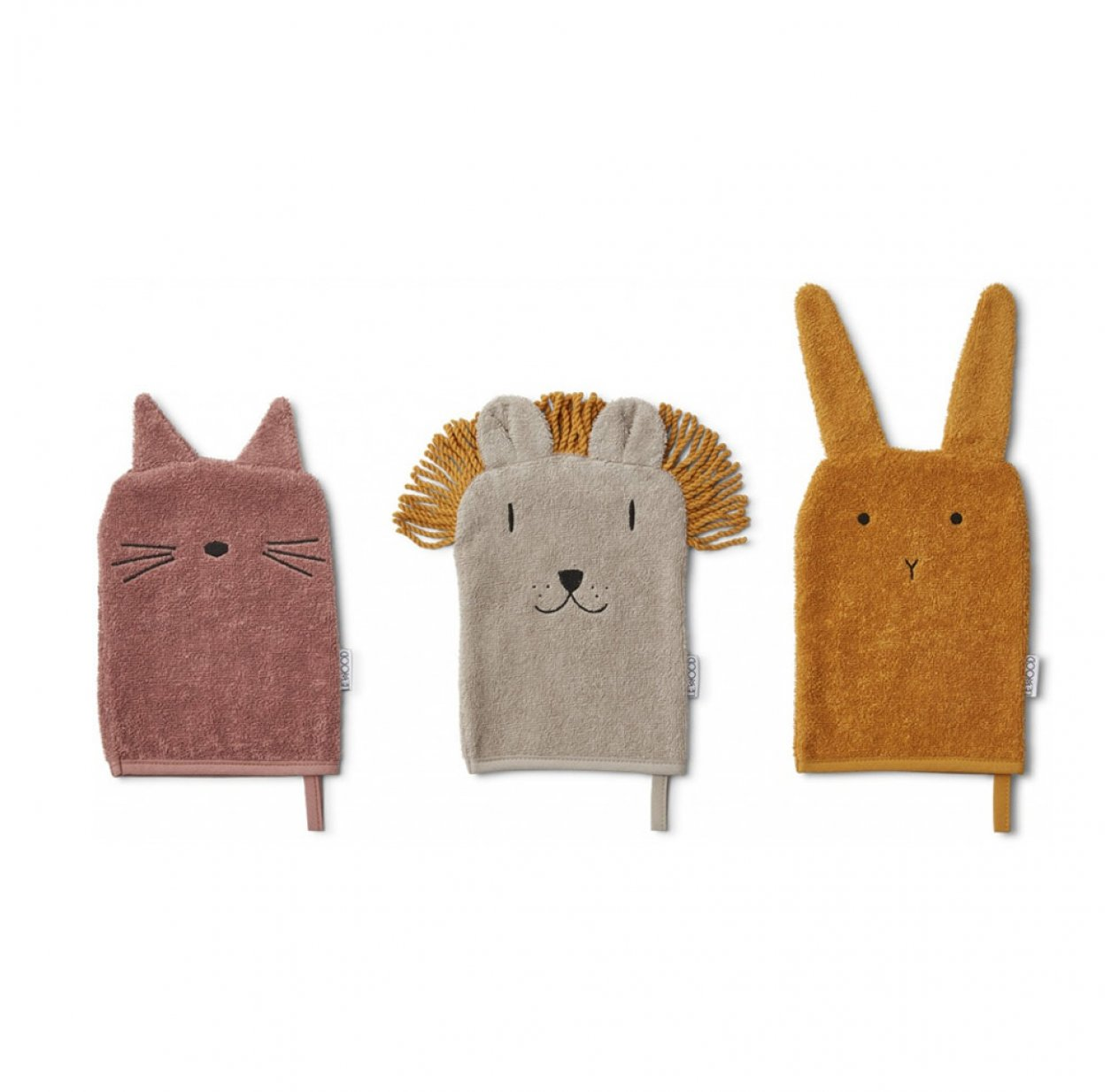 Set de 3 gants Chat, Lapin et Lion Sylvester