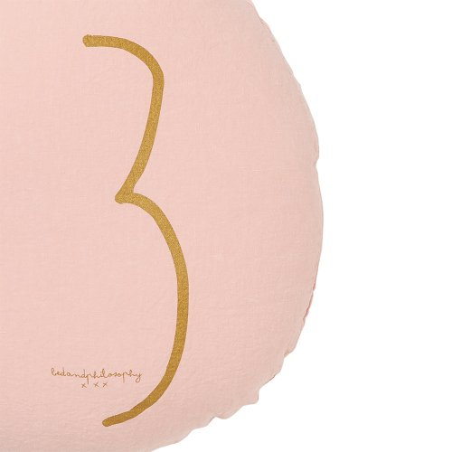 Coussin rond Shining blush - Rose