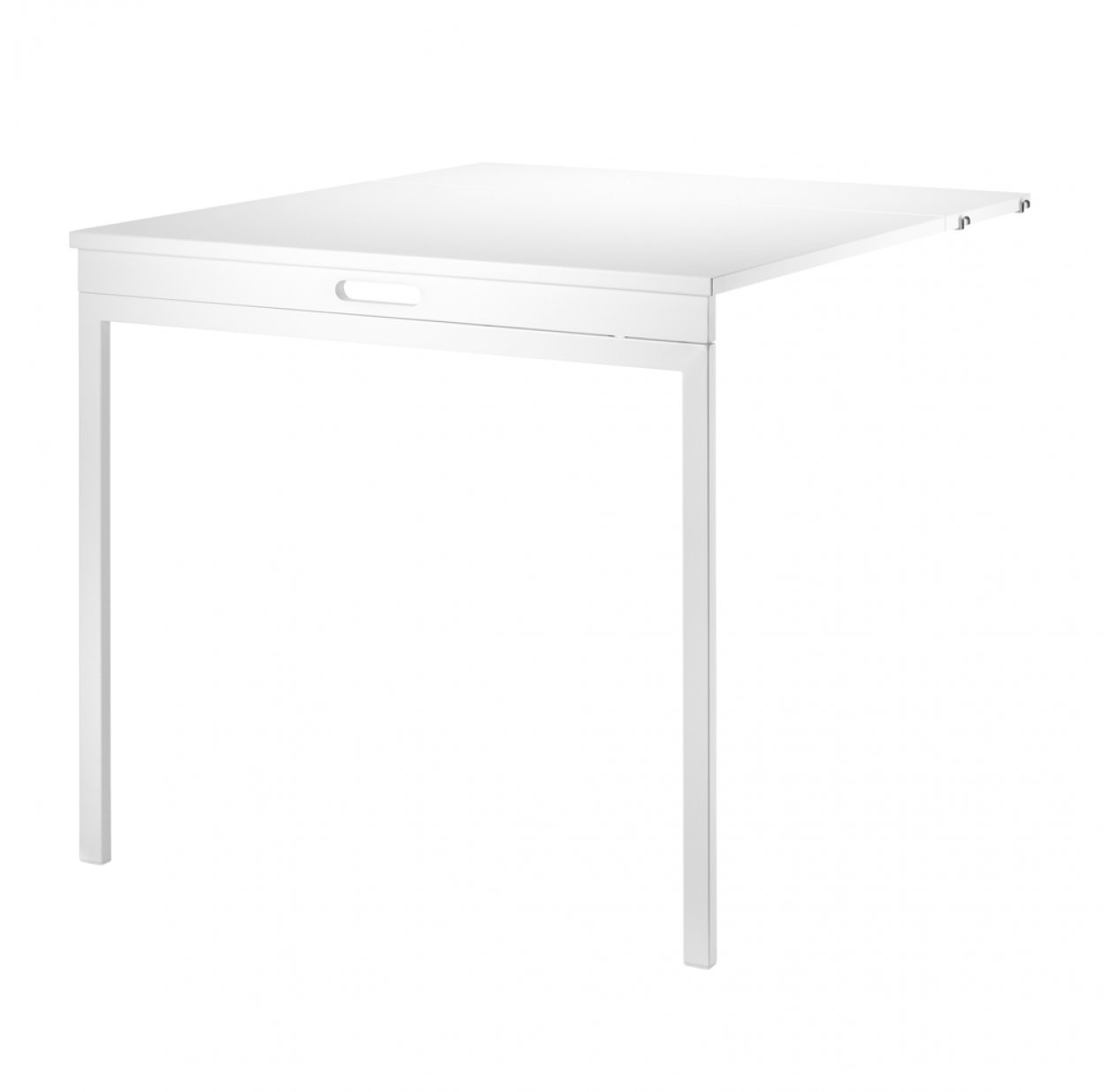 Table murale pliante - Blanc
