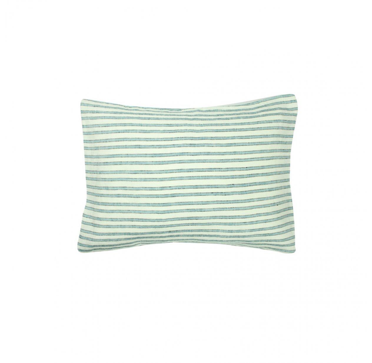taie d 39 oreiller b b lin rayures tricolores lab pour chambre enfant les enfants du design. Black Bedroom Furniture Sets. Home Design Ideas