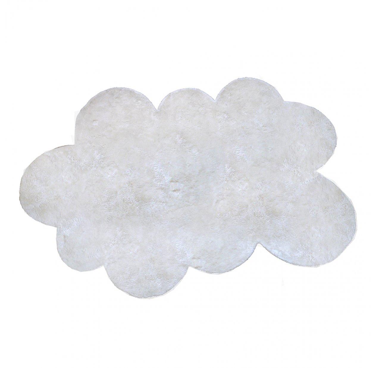 tapis nuage poils courts blanc - Tapis Blanc