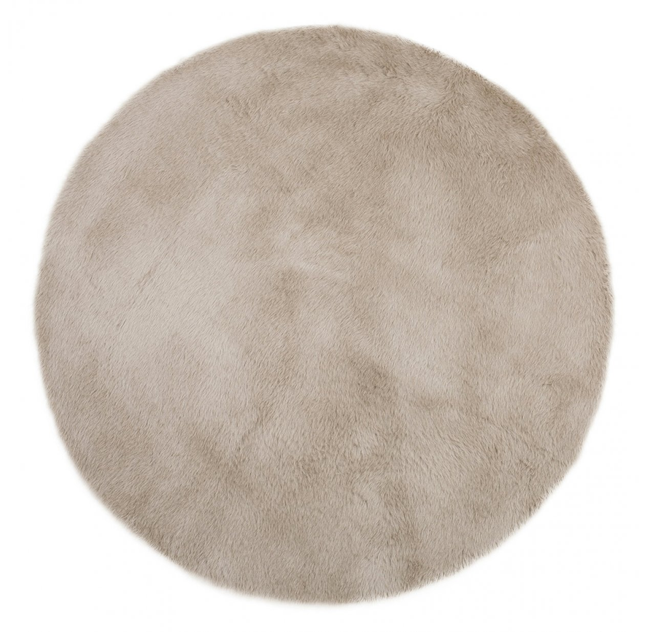 Tapis Rond - Gris taupe