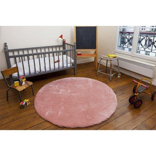 tapis rond rose poudr pilepoil pour chambre enfant les enfants du design. Black Bedroom Furniture Sets. Home Design Ideas