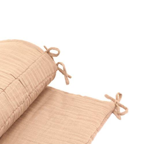 tour de lit en gaze de coton pale peach p che num ro 74 pour chambre enfant les enfants du. Black Bedroom Furniture Sets. Home Design Ideas