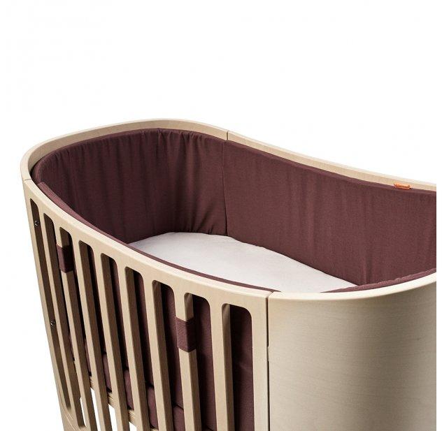 Tour de lit bébé pour lit évolutif Leander - Prune