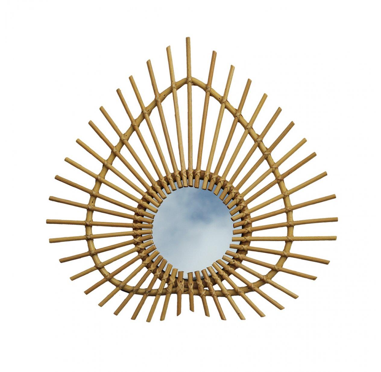 miroir rotin waterlilly style boh me chic dans la chambre des enfants. Black Bedroom Furniture Sets. Home Design Ideas