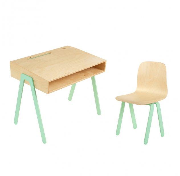 Chambre In2wood Et Chaise 2 Ans Mint Pour 6 Bureau Enfant S5qAjLc43R