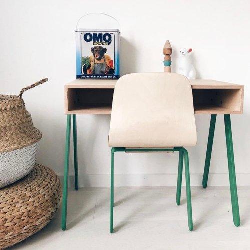 bureau et chaise enfant 2 6 ans vert in2wood pour. Black Bedroom Furniture Sets. Home Design Ideas