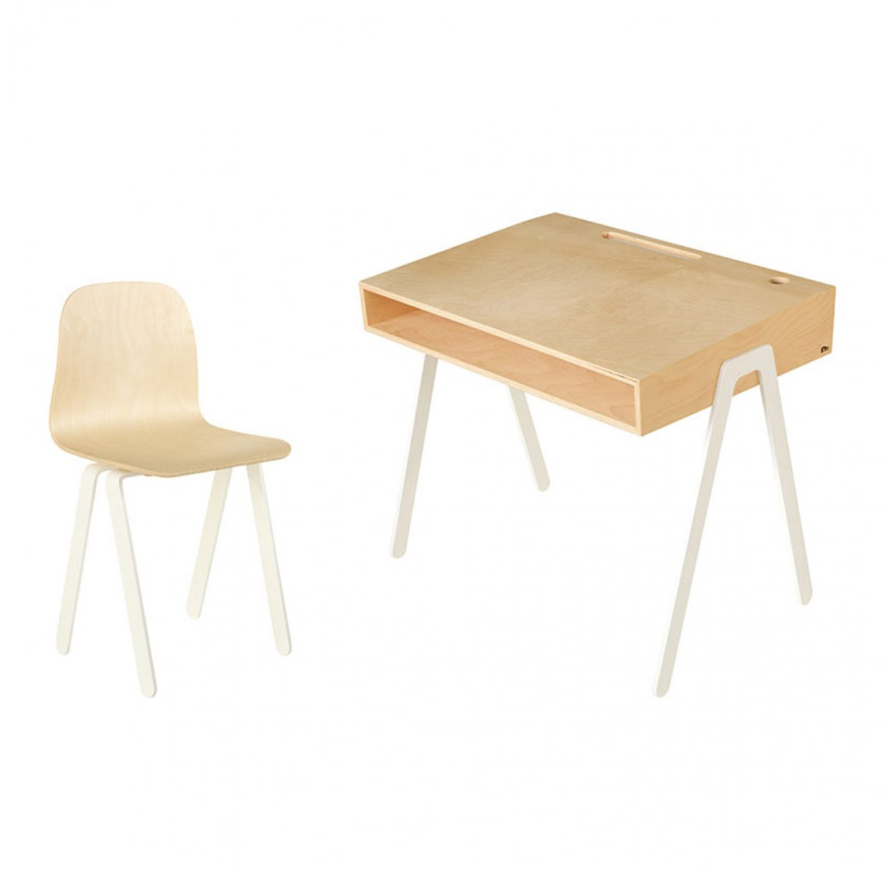Bureau et chaise junior 7-10 ans - Blanc