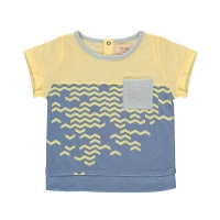 T-shirt Nouvelle Vague - Jaune/Bleu