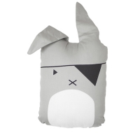 Coussin Pirate Bunny - Gris clair