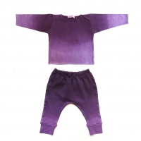 T-shirt et sarouel tie and dye - Violet