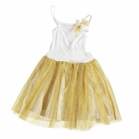 Robe de Princesse/Bal - Blanc/Or