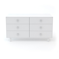 Commode Merlin Classic 6 tiroirs - Blanc