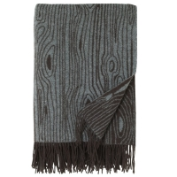 Couverture Wooly Wood - Gris