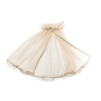 Cape en tulle saumon et paillettes - Or
