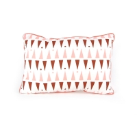 Coussin triangles 35 x 25 cm - Rose