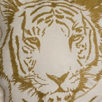 Coussin brodé Tigre