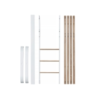 Kit de conversion Mini+ Wood pour lit junior mezzanine mi-haut - Blanc/Chêne