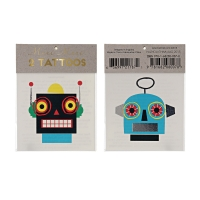 2 planches de tatouages Robot - Multicolore