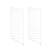 Pack 2 portants muraux au sol 115 x 30 cm - Blanc