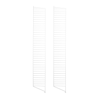 Pack 2 portants muraux au sol 200 x 30 cm - Blanc