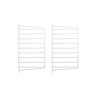 Pack 2 portants muraux 50 x 30 cm - Blanc