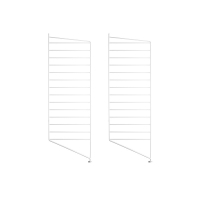 Pack 2 portants muraux au sol 85 x 30 cm - Blanc