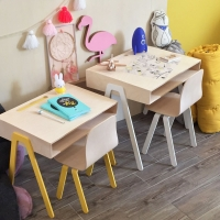 Bureau et chaise junior 7-10 ans - Jaune