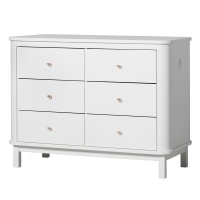 Commode 6 tiroirs Wood - Blanc
