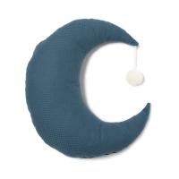 coussin lune pierrot pompon bleu nuit nobodinoz pour chambre enfant les enfants du design. Black Bedroom Furniture Sets. Home Design Ideas