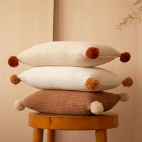 Coussin en tricot So Natural - Ecru