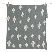 Couverture en tricot On The Go - Cactus - Vert kaki