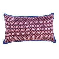 Coussin rectangle Bintang - Rouge/Marine