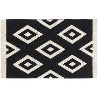 Tapis Diamonds - Noir