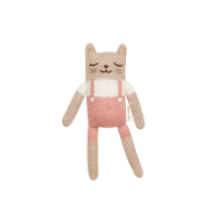 Doudou Chaton Salopette - Rose